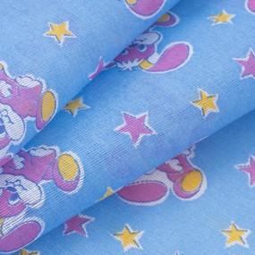 Ткань на отрез ситец О/М 80 см 8844 цвет голубой фото