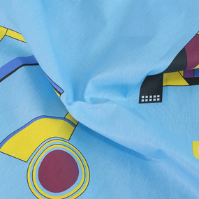 Постельное белье из бязи 751/2 Графика голубой 1.5 сп с 1-ой нав. 70/70 фото