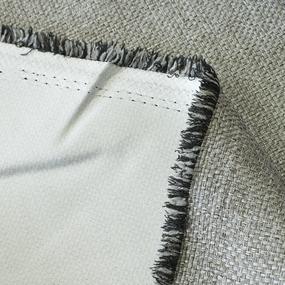 Ткань на отрез Blackout лен рогожка LB1 цвет светло-серый фото