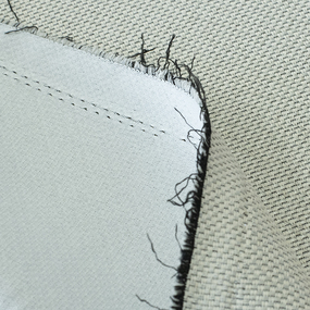 Ткань на отрез Blackout лен рогожка LB1 цвет молочный фото
