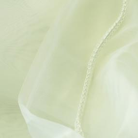 Ткань на отрез Вуаль 295 см с утяжелителемTRL15-2 цвет молочный фото