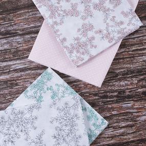 Набор отрезов ткани Перкаль 50/50 +/- 5 см 4 шт 3 фото