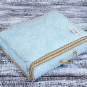 Покрывало стеганое Аквамарин 10333/2 голубой 150/210 фото