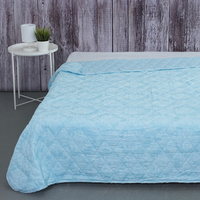 Покрывало стеганое Аквамарин 10333/2 голубой 240/210 Евро фото