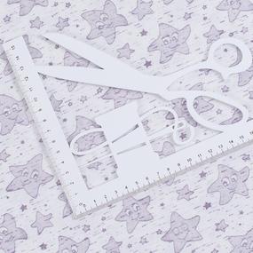 Ткань на отрез кулирка Звезда 1309-V3 фото
