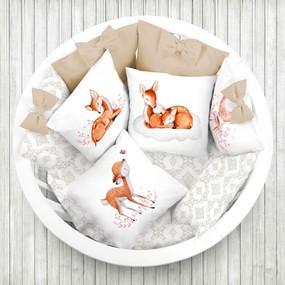 Ткань на отрез перкаль детский 150/37.5 см 05 Оленята цвет оранжевый фото