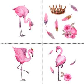 Ткань на отрез перкаль детский 150/37.5 см 06 Фламинго фото