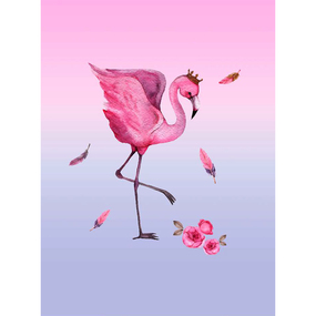 Ткань на отрез перкаль детский 112/150 см 06 Фламинго фото