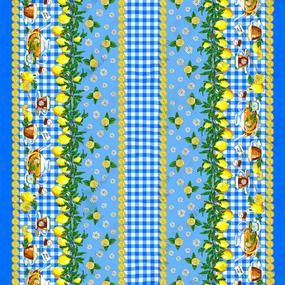 Ткань на отрез рогожка 150 см 4549/1 Лимоны фото
