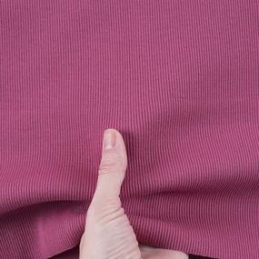 Ткань на отрез кашкорсе с лайкрой К040 цвет брусничный фото