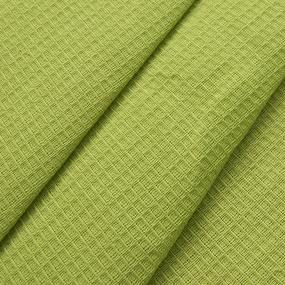 Полотенце вафельное банное 150/75 см цвет лайм фото