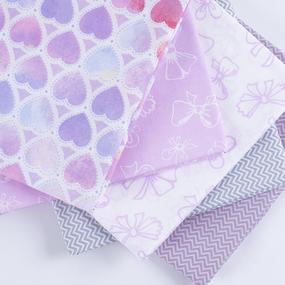 Набор отрезов ткани Поплин 50/50 +/- 5 см 5 шт 347 фото