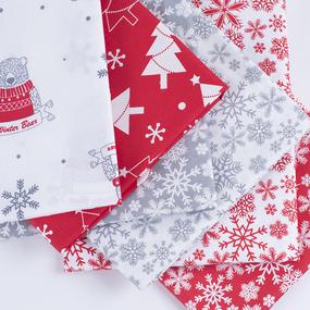 Набор отрезов ткани Поплин 50/50 +/- 5 см 6 шт 349 фото