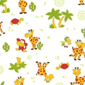 Ткань на отрез фланель 75 см б/з 5202/1 Жираф фото