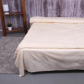 Постельное белье из перкаля 204932 Эко 2 светло-желтый 1.5 сп с 1 нав. 70/70 фото