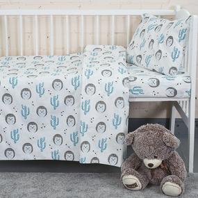 Постельное белье в детскую кроватку из бязи 7337/1 Ёжики фото