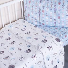 Постельное белье в детскую кроватку 7334/1 Индейцы с простыней на резинке фото