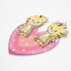 Нашивка Тигрята на сердце 3D 19*19см фото