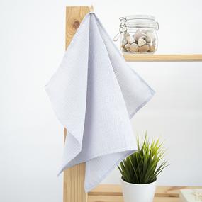 Полотенце вафельное 35/50 см цвет серый, петелька фото