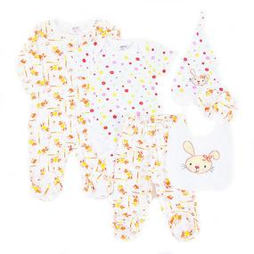 Костюм для новорожденных 6 предметов цвет персик рост 68 фото