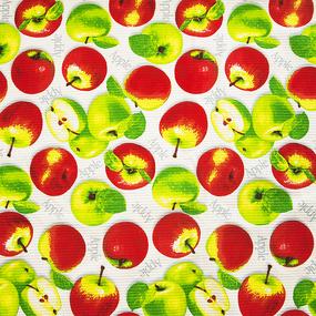 Ткань на отрез вафельное полотно набивное 150 см 429/1 Яблоки фото