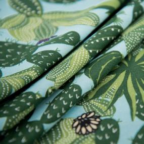 Ткань на отрез кулирка R8097-V1 Кактусы фото