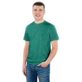Мужская однотонная футболка цвет зеленый 48 фото