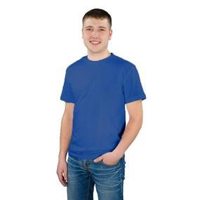 Мужская однотонная футболка цвет индиго 48 фото