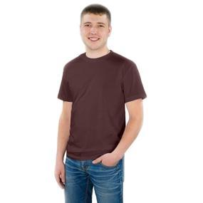Мужская однотонная футболка цвет шоколад 48 фото
