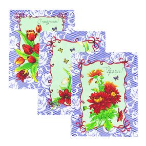 Набор вафельных полотенец 3 шт 50/60 см 549/4 Март цвет сирень фото
