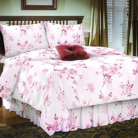 Ткань на отрез бязь 120 гр/м2 220 см 5204/2 Сакура цвет розовый фото