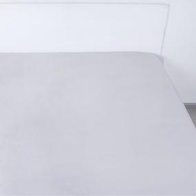 Простынь на резинке поплин цвет серый 140/200/20 см фото