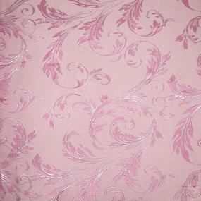 Портьерная ткань с люрексом 150 см на отрез Х7187 цвет 5 розовый вензель фото