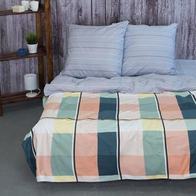 Постельное белье из сатина Е210 2-х сп с евро простыней фото