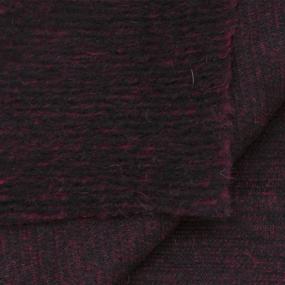 Весовой лоскут №4.60 Драп варёная шерсть бордово-чёрный 1,40 - 1,30 (+/-2см) м 1,240 кг фото