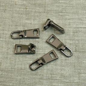 Подвес к бегунку №3 металл черный никель (03) фото