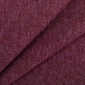 Ткань на отрез футер петля с лайкрой 31-12 меланж цвет бордовый фото
