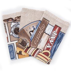 Набор вафельных полотенец 3 шт 45/60 см 35061/1 Coffee time фото