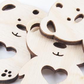 Фигурка из дерева Мишка Teddy Ф1 фото