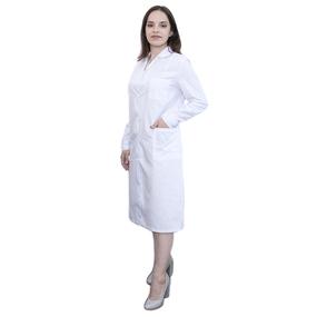 Халат женский классический рукав длинный ТиСи белая 44-46 рост 158-164 фото
