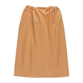 Вафельная накидка на резинке для бани и сауны женская цвет апельсин фото