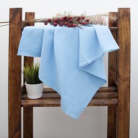 Полотенце вафельное банное 150/75 см цвет небесный фото