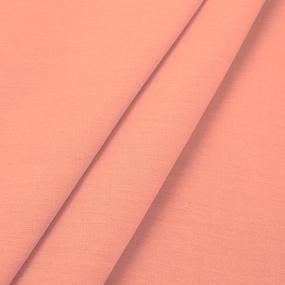 Ткань на отрез поплин гладкокрашеный 220 см 115 гр/м2 цвет коралл фото