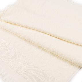 Полотенце велюровое Венский вальс 50/90 см цвет ваниль фото