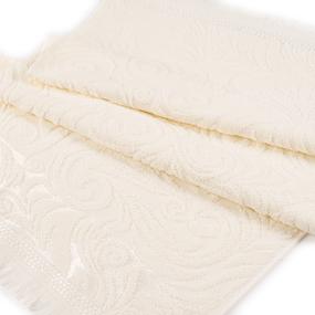 Полотенце велюровое Венский вальс 70/130 см цвет ваниль фото