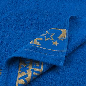 Полотенце махровое Real man 50/90 см цвет синий фото
