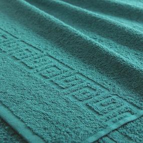 Полотенце махровое Туркменистан 100/180 см цвет темный изумруд фото