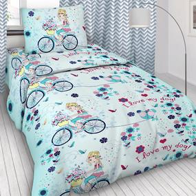 Детское постельное белье 5792/1 Элли и пес поплин 1.5 сп фото