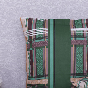 Наволочка Бязь 351/2 Клетка цвет зеленый в упаковке 2 шт 50/70 см фото
