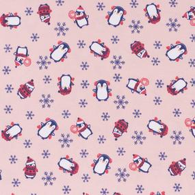 Ткань на отрез интерлок Милый пингвин R351 фото